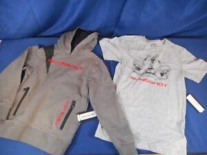 NEW OEM Polaris Youth Grey Slingshot  Hoodie,Sweatshirt w/ BONUS T-Shirt! Medium