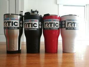 RTIC 30oz Tumbler Stainless/ Matte-Black, Flamingo, Graphite, Ice, Teal, White