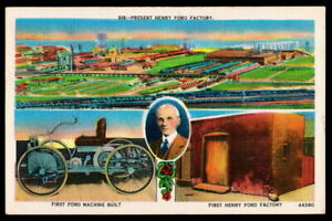1957 Postcard • Henry Ford and Factory