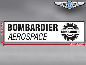 BOMBARDIER RECTANGULAR LOGO DECAL / STICKER