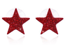 Small Red Crystal Star Stud Post Earrings Girl Women Fashion Jewelry e2080r