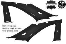 BLACK STITCH 2X B C PILLAR SUEDE COVERS FITS NISSAN SKYLINE GTS GTR R33 93-98