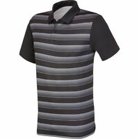 NWT MEN ADIDAS AE4088  GOLF ADIADV BLOCK STRIPE POLO BLACK/GRAY TOP SHIRT $60