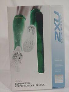 2XU Compression Performance Run Socks Green Size Small