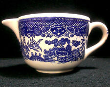 BLUE WILLOW VINTAGE IRONSTONE CREAMER ~ (ROYAL CHINA ?) ~~~~~~~~~~~~~~~~~~~~ VGC