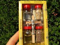 Holy Land Blessed Water+Soil+Anointing Incense+Oil+Wooden Jesus Cross, Crucifix