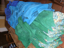 LOT 3 ENSEMBLES + 1 ROBE DAIM T 36 & 2 VINTAGE 80 Leather ladie's wear siz S & M