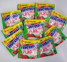Mentos Pure Fresh Sugar-Free Chewing Gum Watermelon Lot of 10 / 12 Piece Packs