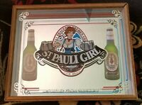 ST. PAULI GIRL BEER FRAMED SHADOWBOX MIRROR