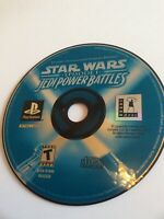 Star Wars Episode 1 Jedi Power Battles PlayStation 1 Game CD DISC ONLY