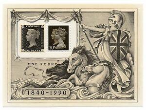 GB 1990 150th Anniversary Penny Black mint mini / miniature sheet MNH stamps