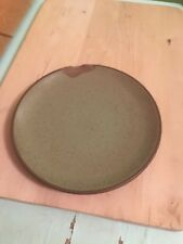 """HEATH Ceramics, Vintage Plate Coup Plate 8"""" Sage Green speckled *CHIPPED*"""