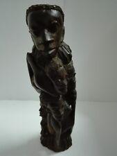 Rare Vintage African Art Makonde Carved Wood Sculpture