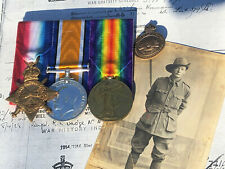 AUSSIE WW1 MEDAL TRIO TO 2 AGH AIF. MARRIED IN FRANCE.