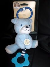 CARTER'S CHILD OF MINE SOFT PLUSH RATTLE W/ TEETHER-BLUE BEAR(DOG?)-BIRTH AND UP