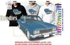 HG HOLDEN BROUGHAM 70-71 HOODIE ILLUSTRATED CLASSIC RETRO MUSCLE SPORTS CAR