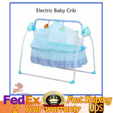 Abs Electric Auto Bassinet Swing Sleeping Bed Electric Baby Crib 99*66*83cm Usa