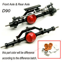 Complete Alloy Front & Rear Axle For RC 4WD Defender Gelande D90 1:10 RC Crawler