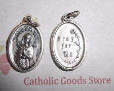 Maria Rosa Mystica - Pray for Us -  Italian Silver OX 1 inch Medal