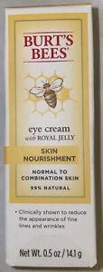 New NIB Burt's Bees Eye Cream with Royal Jelly Skin Nourishment 0.5 oz