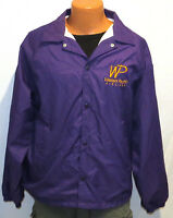 vtg WESTERN PACIFIC AIRLINES Windbreaker LARGE 90s jacket lined plane purple L