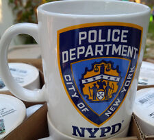 NYPD CITY OF NEW YORK POLICE DEPARTMENT WHITE 11 OZ COFFEE MUG WITH LETTERS