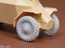 resin Hungarian 39M Csaba wheel set (Firestone) for Hobbyboss kit 1/35 SBS 35027
