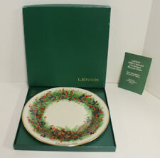 Lenox Colonial Christmas Wreath Collector Plate; 1986 New Hampshire 6th Colony