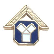 Masonic Past Masters Gold Plated Enamel Lapel Pin Badge-K118
