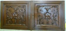 One Large Pair Antique French Solid Oak Carved Wood Door/Panel