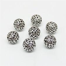 5 of 925 Sterling Silver Celtic Basket Weave Round Ball Beads 10mm for Bracelet