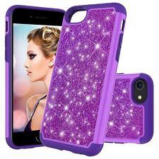 For iPhone SE 2nd Gen 2020 Bling Hybrid Silicone Shockproof Hard Back Case Cover