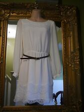 Bnwot new River island ivory white gorgeous summer lace detail dress size 10