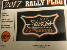 2017 77th Anniversary Official Sturgis Motorcycle Rally Flag/Banner 3 'X 5'🏳️
