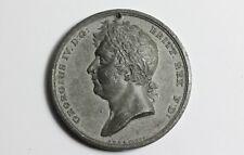 George IV medallón medalla 1821 plomo coronación 48 mm de diámetro