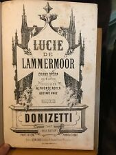 Donizetti Lucie de Lammermoor opéra partition chant-piano francaise éd. Grus