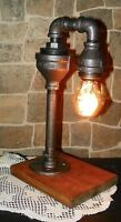 Retro Industrial Vintage Steampunk Waterspout style desk Lamp with Gem bulb
