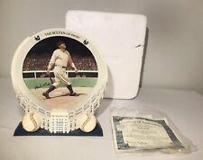 1998 Bradford Exchange YANKEE STADIUM 75TH ANNIVERSARY BABE RUTH PLATE COA...