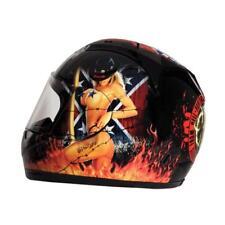Rockhard Pantera Full Face Motorcycle Helmet Black White Small SM