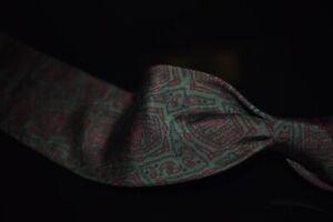 #1 MENSWEAR Drakes England Silk Tie Madder Cactus Untipped Batik Block Print #12