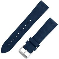 Vintage Suede Leather Watchband - Navy Blue - 18, 20 & 22mm