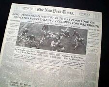 ARMY-NAVY GAME College Football Rivalry West Point vs. Annapolis 1935 Newspaper