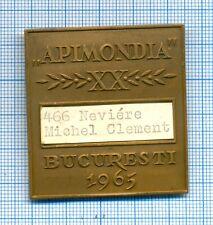 X-Rare Beekeeping APIMONDIA World Congress Participant Badge Romania 1965