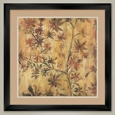 """35W""""x35H"""": TROPICAL NIGHTS by LIZ JARDINE - DOUBLE MATTE, GLASS and FRAME"""