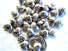 Textured Metal Spacer Beads bme0488a 25 Silver Heart Beads 8mm