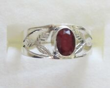Ruby Ring in 925 Sterling Silver size 9