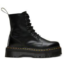 DR. MARTENS JADON 8-Eye Black Polished Smooth Platform Boots 15265001 ~ALL SIZES