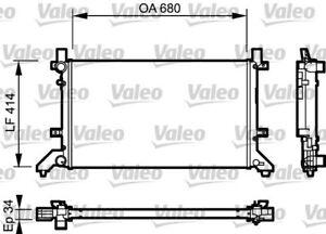 VALEO RADIATOR Fits VW LT 28-35/28-46 2.5L TDI 99-06 2.5TDI 732952