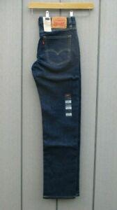 "Mens Levis 513 Jeans Slim Straight Denim Blue Jeans 30"" Waist 30"" Inside Leg NWT"