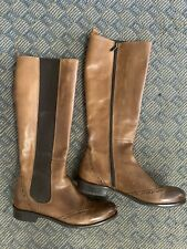 Ron White tall wingtip boots -- women's 39.5 / 9 US - side zip